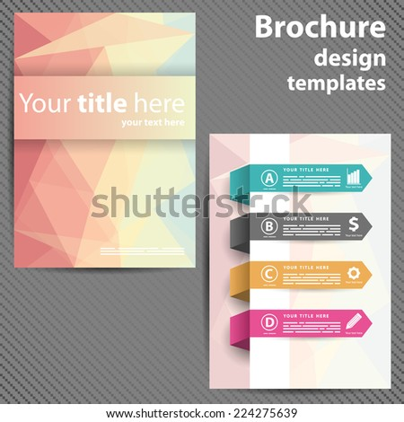 Template design brochures, Flyers in polygon style. Design for your business. - stock vector