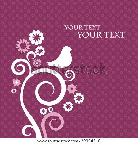 Template design for greeting card - stock vector