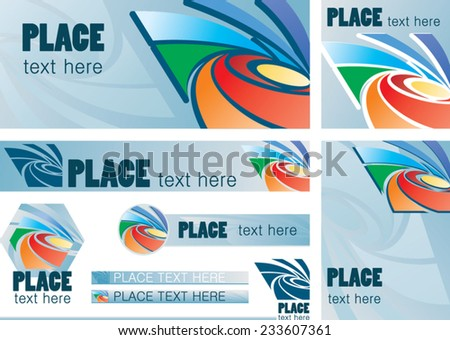 Template design for web with text and abstract elements - stock vector