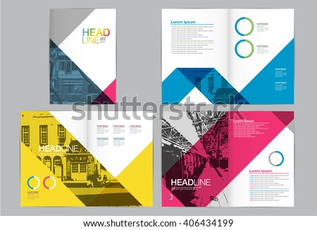 Template design, Layout,Brochure Design Templates,Geometric Abstract Modern Backgrounds - stock vector
