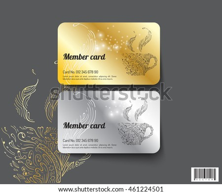 Template Design Member Card Suitable Use Stock Vector 461224501 ...