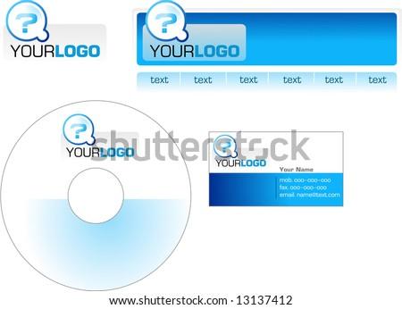 Template design logo letterhead banner header stock vector 13137412 template design of logo letterhead banner header disk and business card spiritdancerdesigns Image collections