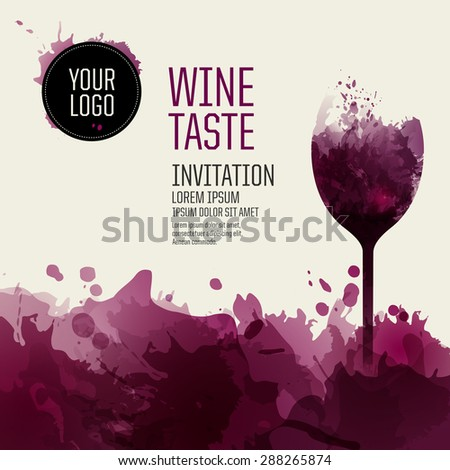 template design suitable wine list wine stock vector royalty free