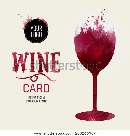 Template Design Suitable Wine List Wine Stock Vector 288265967