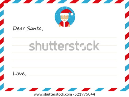 Template envelope new years letter santa stock vector 521975044 template envelope new years letter to santa claus with icon vector illustration flat design pronofoot35fo Image collections