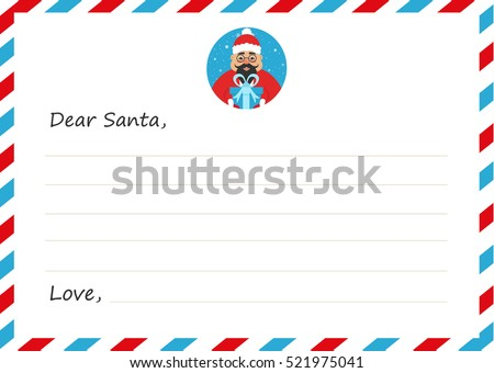 template envelope new years christmas letter stock vector 521975041