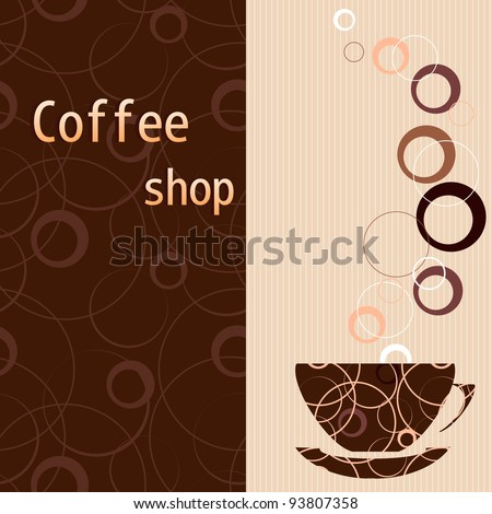 Template for a tea, coffee, chocolate menu - stock vector