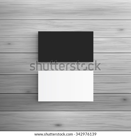 Template for advertising and corporate identity. Business Cards. Blank mockup for design. Vector white object - stock vector