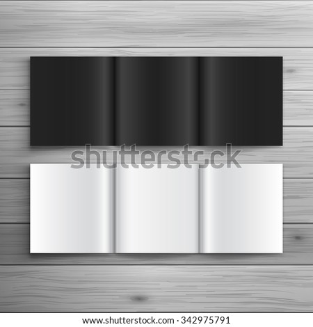 Template for advertising and corporate identity. Folded brochure in square format. Blank mockup for design. Vector white object - stock vector