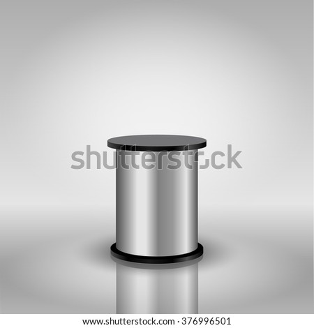 Template for advertising and corporate identity. Round trade stand. Blank mockup for design. Vector white object - stock vector