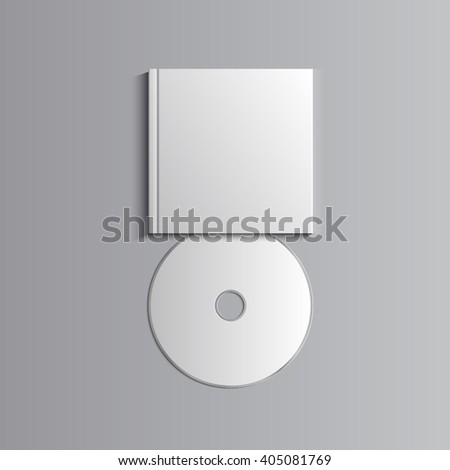 Template for advertising, branding and corporate identity. Compact disk with cover. Blank mockup for design. Vector white object. EPS 10 - stock vector