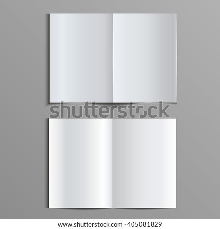 Template for advertising, branding and corporate identity. Folded, flayer, leaflet, brochure, catalogue. Blank mockup for design. Vector white object. EPS 10 - stock vector