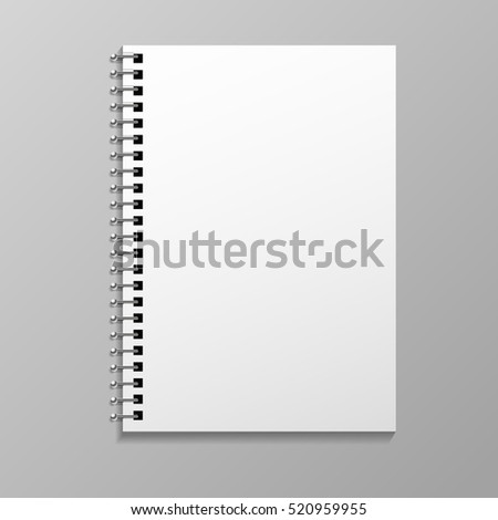 Template for advertising branding and corporate identity realistic spiral notepad blank mockup for design eps 10