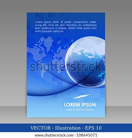 Template for advertising brochure. Vector Illustration. - stock vector