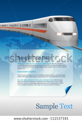 Template for advertising. Train - stock vector