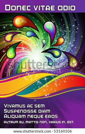 template for an event poster - stock vector