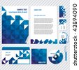 Template for Business artworks. Vector - stock