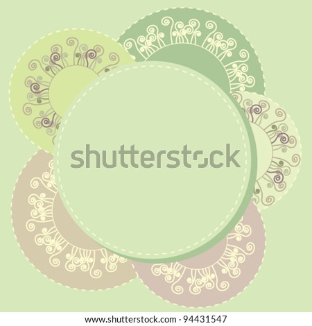 Template for card - stock vector