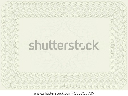 template for certificate and diploma - stock vector