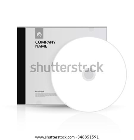 Template for DVD Box and DVD-disc for corporate identity - stock vector