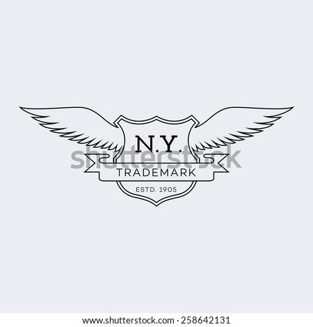 Template Logos Labels Emblems Outline Style Stock Vector 258642131 ...
