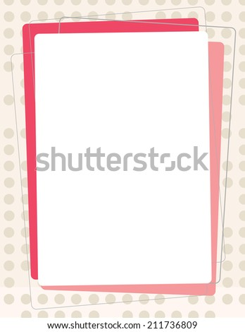 Template for poster or flyer for a organization or business - stock vector