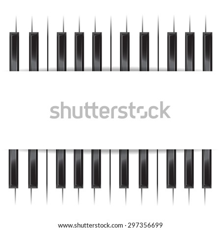 Template for poster with piano keyboard. vector illustration - stock vector