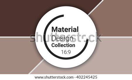 template for presentation in 16: 9 format. vector illustration. designed for business background, education, web, brochure. abstract creative concept layout template in brown colors - stock vector