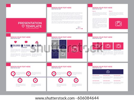 template presentation power point annual report stock vector, Presentation templates
