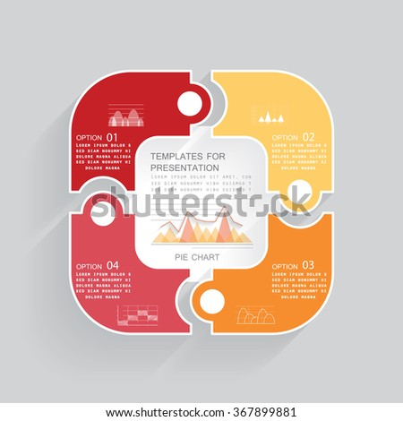 Template for presentation, vector illustration