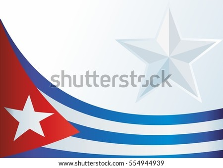 template for the award, an official document with a flag of the Republic of Cuba