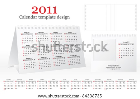 Template for the design calendar 2011 - stock vector