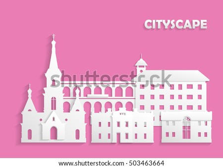 Template site postcard poster concept ancient stock vector template for the site postcard poster the concept of ancient city cut out pronofoot35fo Images