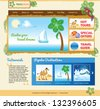 Template for travel website - stock vector