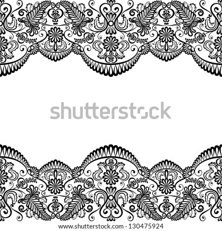 Template wedding invitation greeting card lace stock vector template for wedding invitation or greeting card with lace fabric background stopboris Images