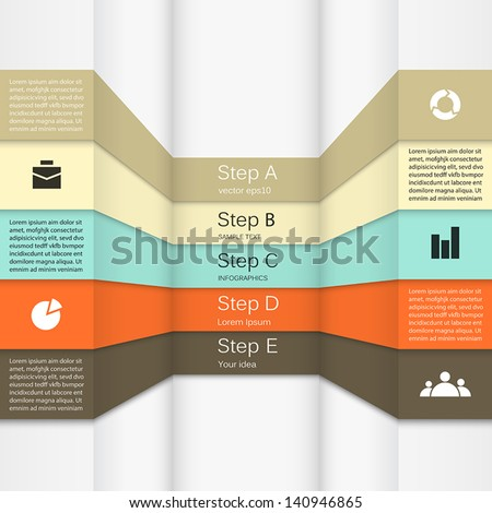 Template for your business presentation - stock vector