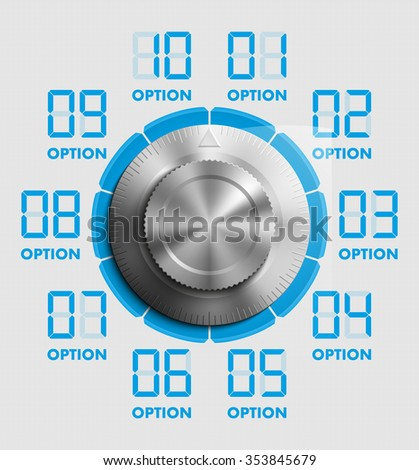 template for your business presentation with Combination Lock and text areas (info graphics) - stock vector