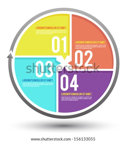 Template for your business presentation with text areas (info graphic) / object for printing / website and education diagram. - stock vector