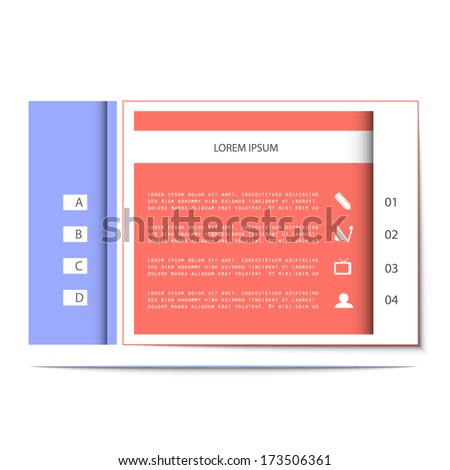 Template for your presentation, vector illustration