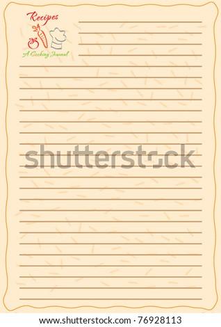 template frame design recipe book vector stock vector royalty free