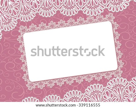 Template frame design for card  - stock vector