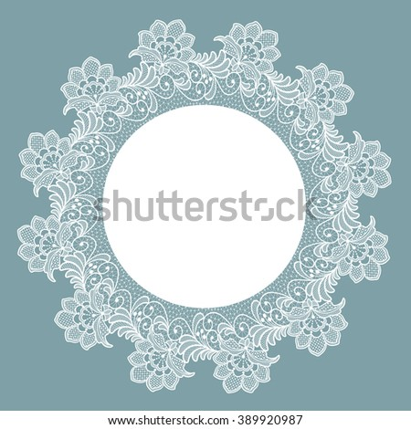 Template Frame Design Card Lace Floral Stock Vector 389920987 ...