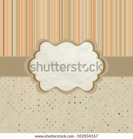 Template frame design for greeting card. And also includes EPS 8 vector