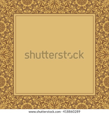 Template frame design for greeting card, vector Illustration - stock vector