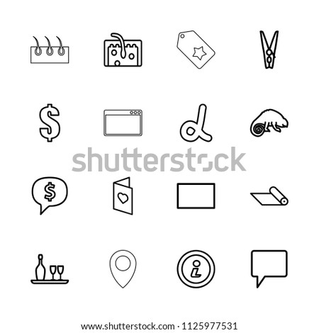 Template Icon Collection 16 Template Outline Stock Vector 1125977531 ...