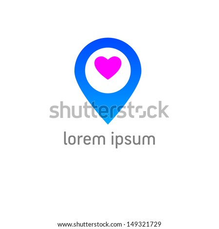 template icons - check in for the favorite place - stock vector