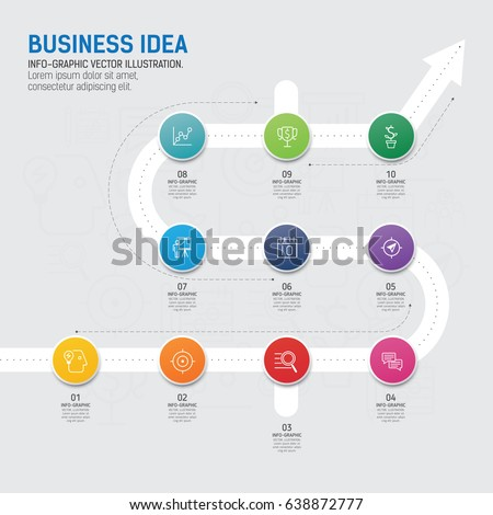 template infographic design infographic concept use stock vector