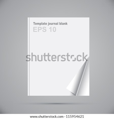 Template journal blank - stock vector