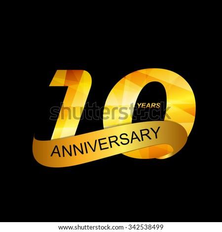 Template Logo 10th Anniversary Vector Illustration EPS10 - stock vector