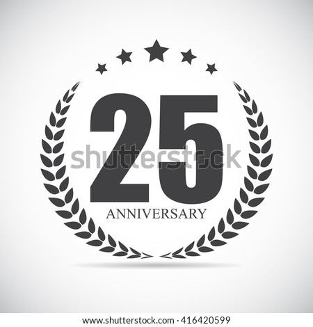 Template Logo 25 Years Anniversary Vector Illustration EPS10 - stock vector